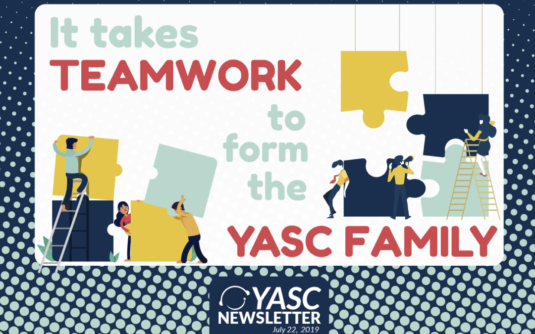 It takes TEAMWORK to form the YASC Family