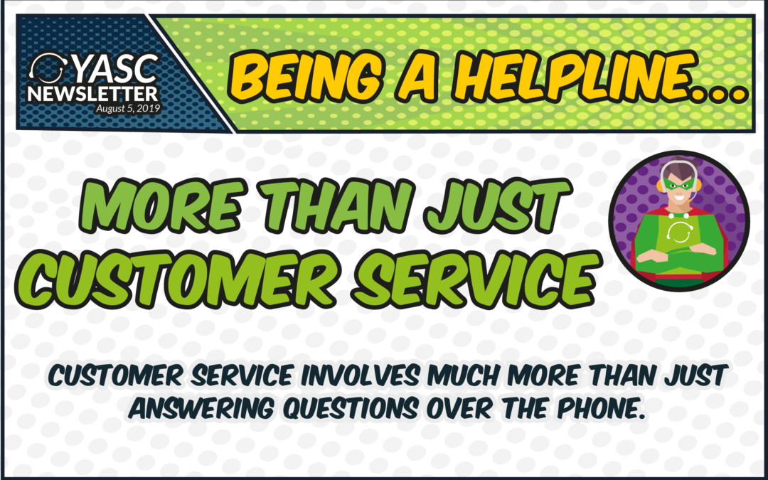 Being a helpline… More than just customer service