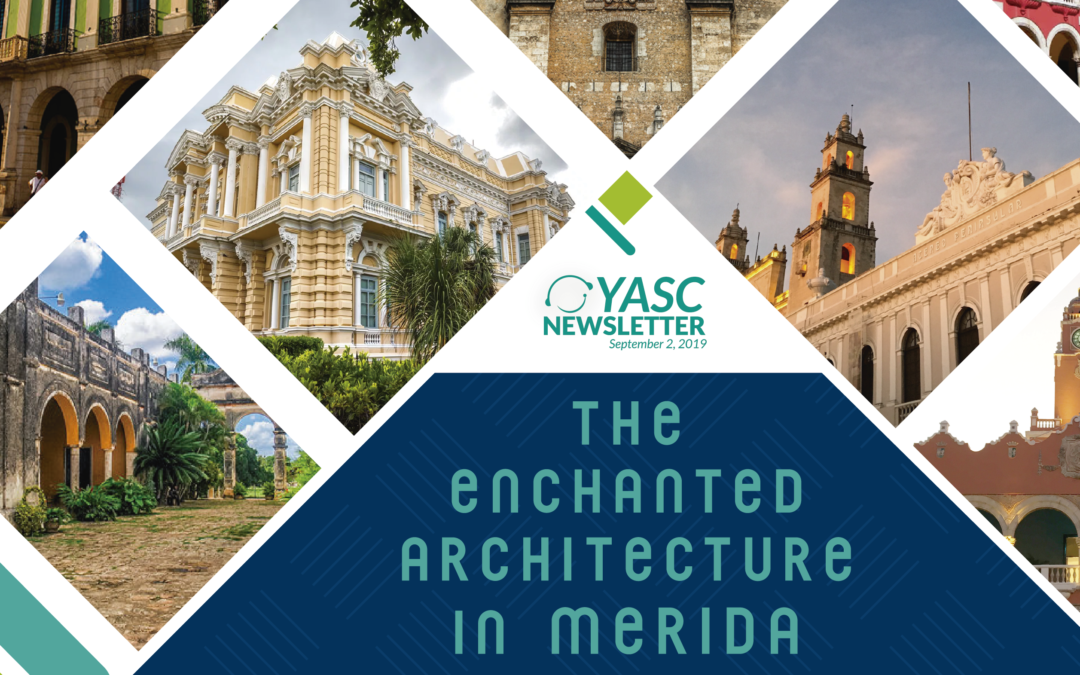 The enchanted architecture in Merida.
